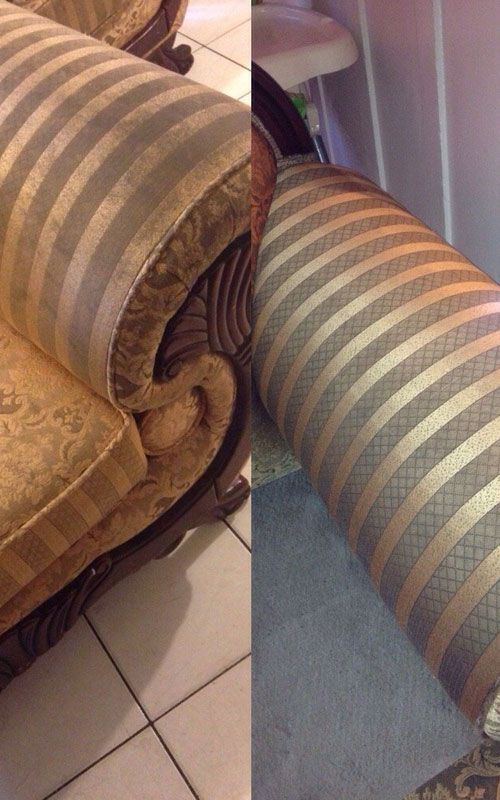upholstery cleaning - before/after