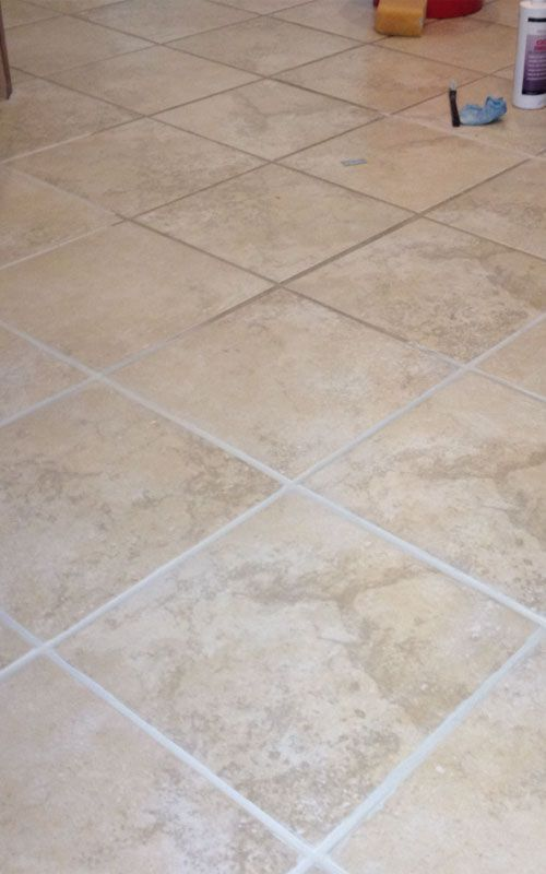 cleaning bright tiles