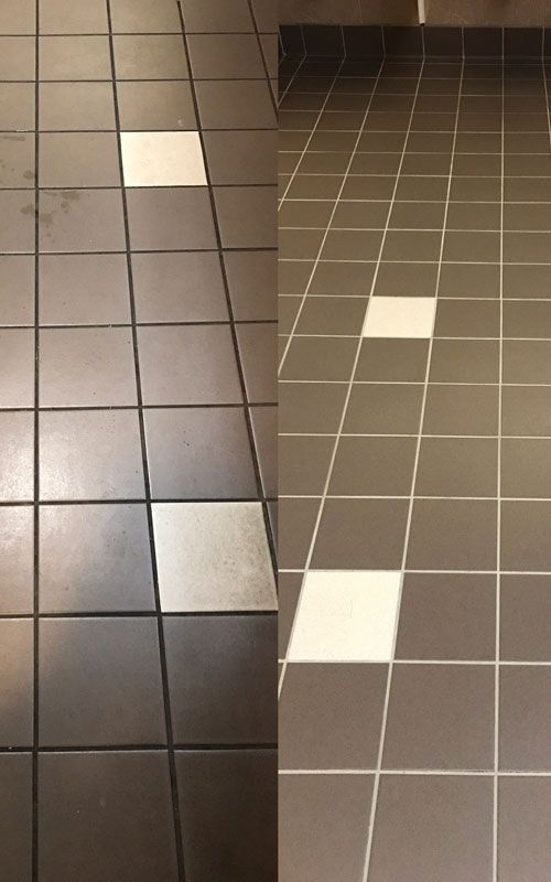 cleaning dark tiles